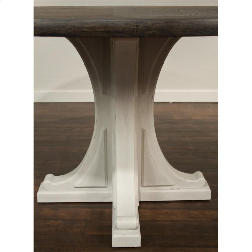 Juniper - Round Pedestal Dining Table Top - Chalk Finish