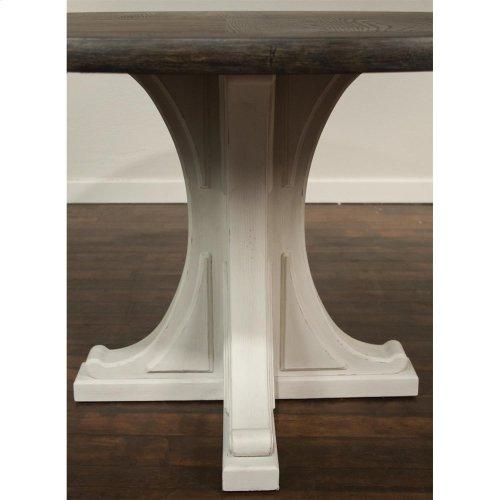 Juniper - Round Pedestal Dining Table Top - Chalk Finish