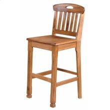 Sedona Slatback Barstool/wooden Seat