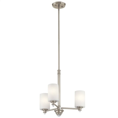 Joelson 3 Light Chandelier Brushed Nickel