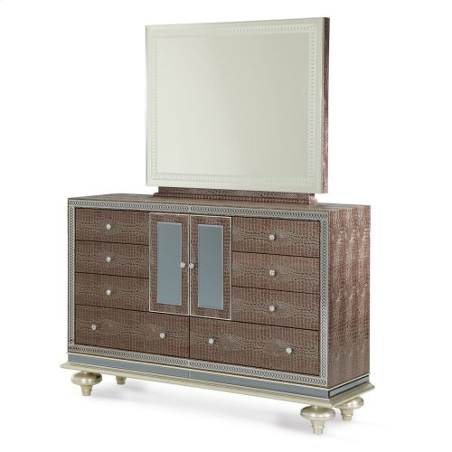 Upholstered Dresser & Mirror