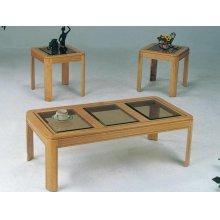 3PC OAK C/E TABLE SET