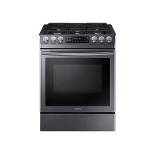 5.8 cu. ft. Slide-in Gas Range with Fan Convection in Black Stainless Steel