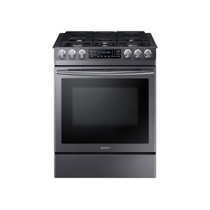 Samsung5.8 cu. ft. Slide-in Gas Range with Fan Convection in Black Stainless Steel