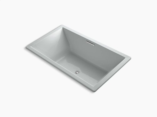 """Ice Grey 72"""" X 42"""" Drop-in Vibracoustic Bath With Bask Heated Surface and Center Drain"""