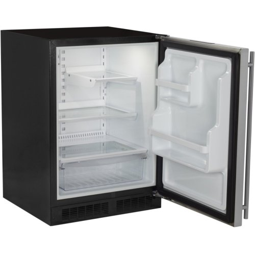 """Marvel 24"""" All Refrigerator with Drawer - Solid Stainless Steel Door - Right Hinge"""