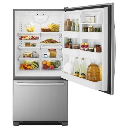 "33-inch Wide Bottom-Freezer Refrigerator with EasyFreezer™ Pull-Out Drawer "" 22 cu. ft. Capacity - black"