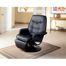 Berri Contemporary Black Swivel Recliner