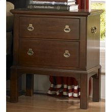 Campaign Leg Night Stand - 2 Drawers