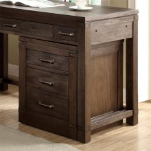 Promenade - Mobile File Cabinet - Warm Cocoa Finish