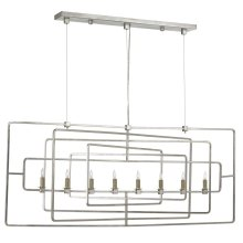 Metro Silver Rectangular Chandelier