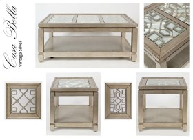 Casa Bella Sofa Table- Vintage Silver