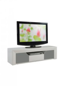 TV Stand MDF White and Grey