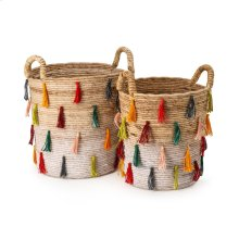 Tassel Baskets - Set of 2