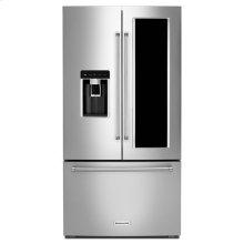 "KitchenAid® 23.5 cu. ft. 36"" Smart Counter-Depth French Door Refrigerator with FreshVue™ Door-within-Door and PrintShield™ Finish - Black Stainless"