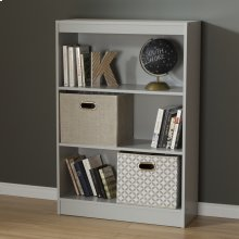 3-Shelf Bookcase - Soft Gray