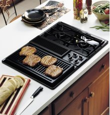 "GE Profile 30"" Built-In Downdraft Modular Gas Cooktop"