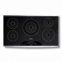 """36"""" All-Induction Cooktop with 5 induction zones including 1 large 12"""" Induction Zone"""