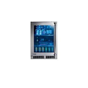 """Lynx24"""" Outdoor Glass Door Refrigerator, Left Hinge"""