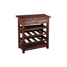 CC-RAK030S-RW  Cottage Wine Server with Drawer