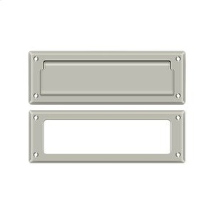 "Mail Slot 8 7/8"" with Interior Frame - Brushed Nickel"