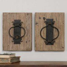 Rustic Door Knockers, S/2