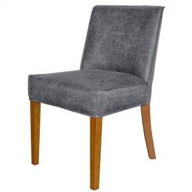Pierson Bonded Leather Chair Walnut Legs, Vintage Midnight