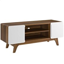 "Tread 47"" TV Stand in Walnut White"