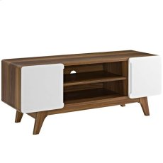 "Tread 47"" TV Stand in Walnut White Product Image"
