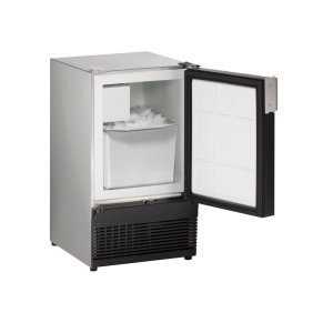 "U-LineMarine Series 15"" Marine Crescent Ice Maker With Stainless Solid Finish and Field Reversible (no Flange) Door Swing (115 Volts / 60 Hz)"