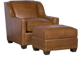 Hillsdale Leather Chair, Hillsdale Leather Ottoman