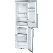 500 Series free-standing fridge-freezer with freezer at bottom 60 cm, Inox-easyclean B11CB50SSS