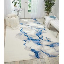 Twilight Twi27 Ivory Blue Rectangle Rug 2'3'' X 3'