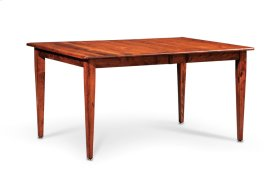 """Shenandoah Leg Table, Shenandoah Leg Table, 42""""x60"""", 1-24"""" Stationary Butterfly Leaf"""