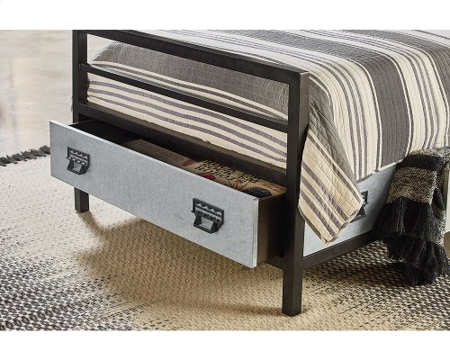 Kettle Metal Stair Rail Youth Storage Twin Bed
