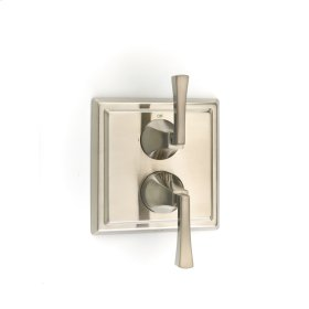 Dual Control Thermostatic with Diverter and Volume Control Valve Trim Hudson (series 14) Satin Nickel