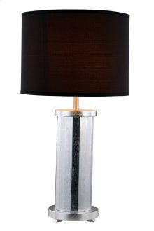 1 Light Table Lamp with Metal Resin Body & Brushed Nickel & Silver Leaf Finish