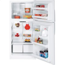 GE® ENERGY STAR® 18.0 Cu. Ft. Top-Freezer Refrigerator (This is a Stock Photo, actual unit (s) appearance may contain cosmetic blemishes. Please call store if you would like actual pictures). This unit carries our 6 month warranty, MANUFACTURER WARRANTY and REBATE NOT VALID with this item. ISI 33091