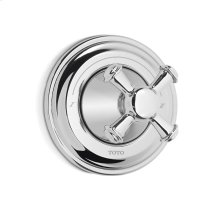 Vivian Three-Way Diverter Trim with Off - Cross Handle - Polished Chrome Finish