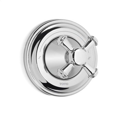 Vivian™ Three-Way Diverter Trim with Off - Cross Handle - Polished Nickel