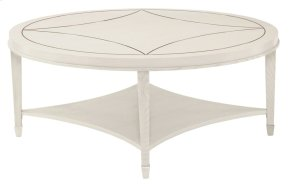 Criteria Round Cocktail Table in Pale Ivory (363)