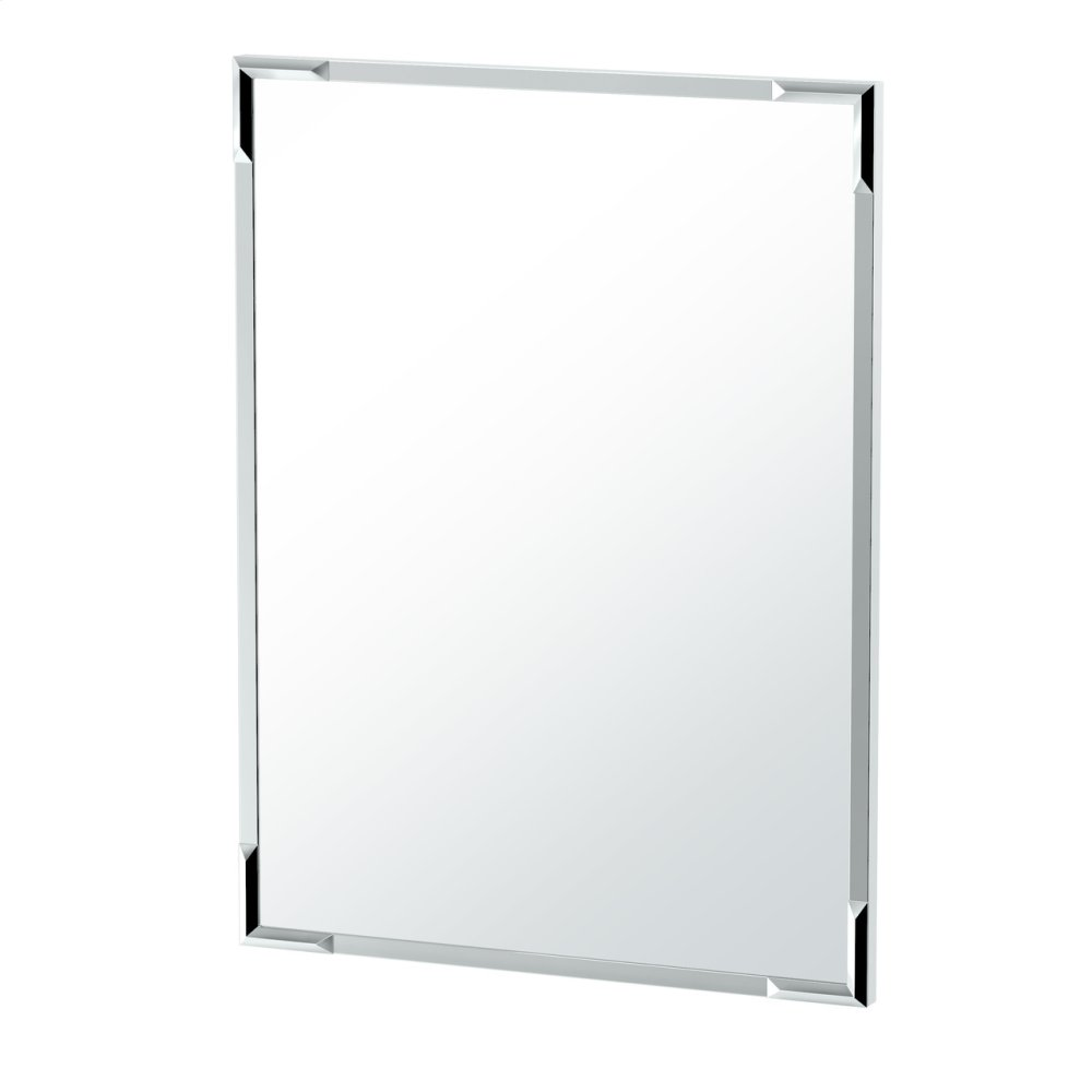 Flush Mount Facet Mirror in Chrome