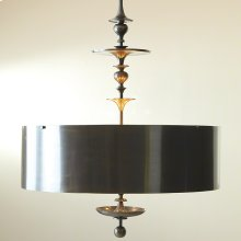 Turned Pendant Chandelier-Antique Bronze-Lg