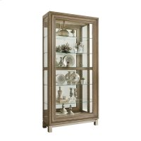 Sliding Front Display Cabinet With Metal Base Product Image