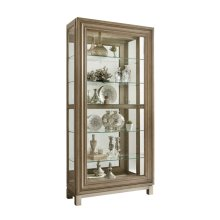 Sliding Front Display Cabinet With Metal Base