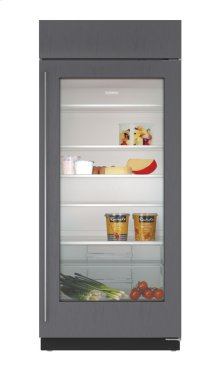 "36"" Built-In Glass Door Refrigerator - Panel Ready"