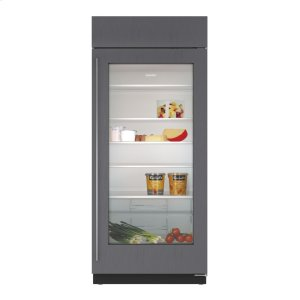 "Subzero36"" Built-In Glass Door Refrigerator - Panel Ready"