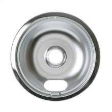 "ELECTRIC RANGE BURNER BOWL - 8"" CHROME"