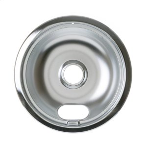 "GEELECTRIC RANGE BURNER BOWL - 8"" CHROME"