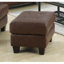 Samuel Transitional Dark Brown Ottoman